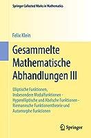 Gesammelte Mathematische Abhandlungen III (Springer Collected Works in Mathematics)