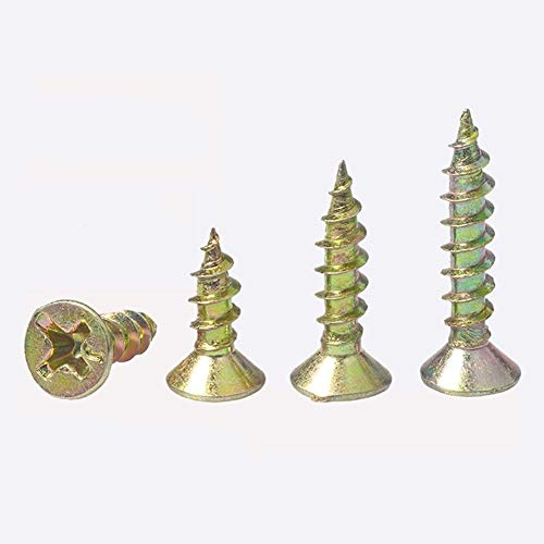 Tirafondos 20 us M4 Tornillos Cross Ash fósforo Yeso tornillo autorroscante con cabeza cónica Tornillo for madera HW018 Tornillos del grifo (Color : 25mm, Size : M4 (20Pcs))