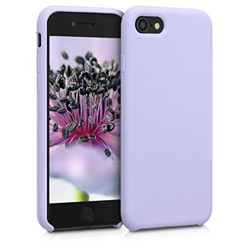 kwmobile Cover Compatibile con Apple iPhone 7/8 / SE (2020) - Custodia in Silicone TPU - Back Case Protezione Cellulare Lavanda Pastello