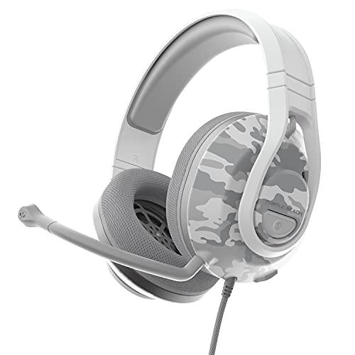 Turtle Beach Recon 500 Camo Ártico Auriculares de juego multiplataforma con cable - PS5, PS4, Xbox Series X|S, Xbox One y Nintendo Switch