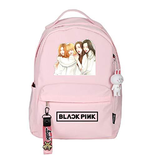 JUSTGOGO KPOP BLACKPINK Backpack JISOO JENNIE Daypack School Bag Bookbag Shoulder Bag