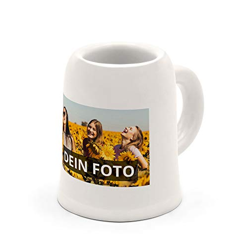 PhotoFancy® - Schnapsglas mit Foto selbst gestalten - Mini Bierkrug mit eigenem Motiv personalisieren und bedrucken