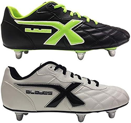 xblades Legend 6Stud Rugby Stiefel Weiß und schwarz