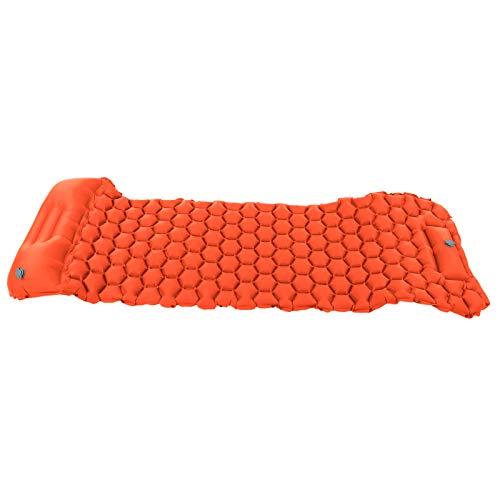 Cojín Inflable, colchoneta para Dormir portátil Resistente al desgarro, tamaño pequeño para Tiendas de campaña y hamacas para Acampar al Aire(Orange)