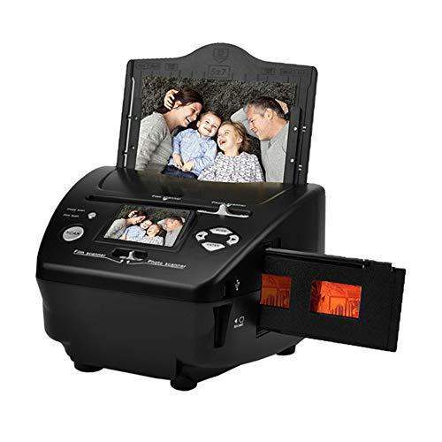 NZYMD 8/16MP película y foto de diapositivas escáner multifunción convierte 135 película/35 mm/diapositiva/foto/tarjeta de visita a archivos JPG digitales HD 16 MP tarjeta de memoria incluida