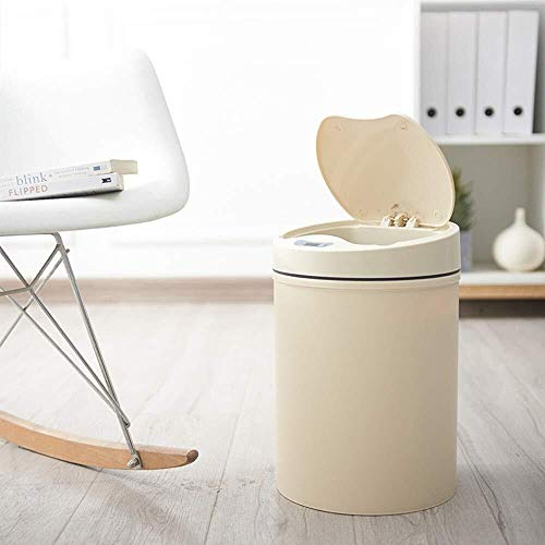 Inductie-afvalemmer Een ommantelde elektrische inductie trash automatisch intelligente vuilnisbak van nat en droog afval intelligente huishoudkeuken kamer slaapkamer badkamer wonen