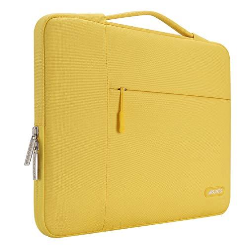 MOSISO Funda Blanda Compatible con 13-13,3 Pulgadas MacBook Air/MacBook Pro Retina/Ordenador Portátil, Poliéster Maletín Protectora Multifuncional Bolso, Amarillo