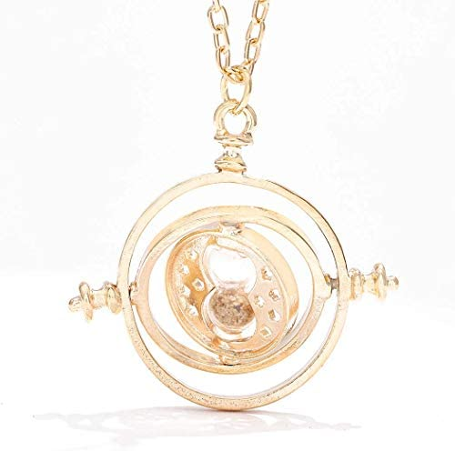 Sakytal Mini Time Turner Necklace Gold Cute Sand Glass Large Pendant Necklace Sand Clock Sweater product image