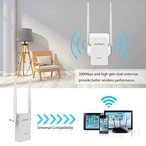 WiFi Range Extender, Wireless Wi-Fi Signal Booster 2.4GHz 300Mbps WiFi Extender WiFi Repeater/Access Point/Router Mode, with Ethernet Port and WPS Button, Extends WiFi to Smart Home & Alexa Devices