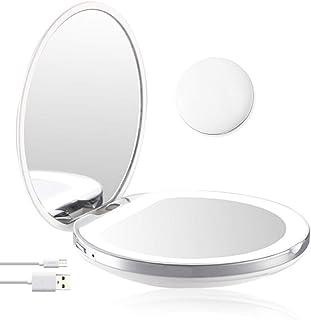 Xlp 軽い女の子の女性が付いている化粧鏡ライト小型携帯用LED化粧鏡