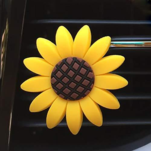 QWP. Sunflower Lufterfrischer Netter Auto-Duftstoff Vent Klipp-Auto-Duft Duft Diffusor Auto-Innendekor Autozubehör (Color Name : 1 pc Sunflower)