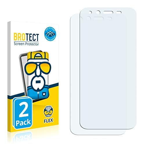 BROTECT Full-Cover Schutzfolie kompatibel mit Emporia Smart 3 Mini (2 Stück) - Full-Screen Displayschutz-Folie, 3D Curved, Kristall-Klar
