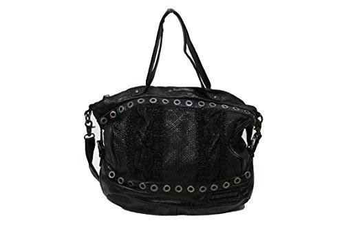 Taschendieb Damen Td0037g Henkeltasche, Anthrazit, 14x29x31,5 cm