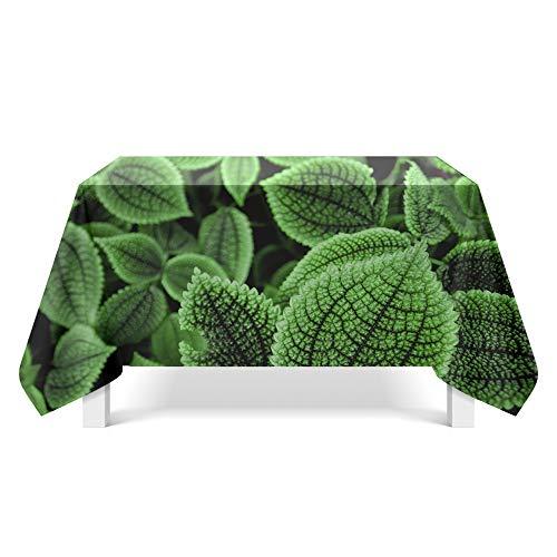 DREAMING-Green Plant Art Deco Tischdecke Haushalt Tischdecke Tv-Schrank Teetischdecke Runder Tisch Tischset 140cm * 140cm