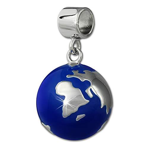 SilberDream Ketten-Anhänger Weltkugel 925 Silber blau nickelfrei SDH601B