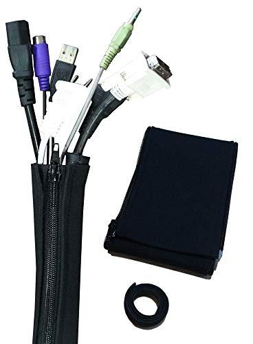 テレビ パソコン 回線 ケーブル コード まとめる 整理カバー 2枚セット1 m 切断可能 ペット電線かじり防止 収納結束ベルト 約1m分