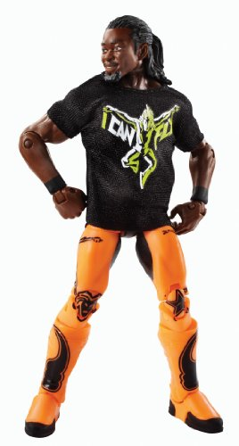 WWE Wrestling Elite Series 27 KOFI KINGSTON Action Figure (Includes Shirt)
