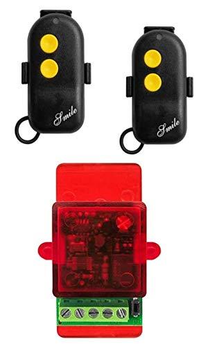 Juego de mando a distancia para cerradura eléctrica con 2 mandos a distancia. Cerradura eléctrica con 12-24 Vca. Se conecta directamente con el botón de apertura.