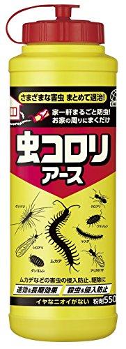 虫コロリアース 粉剤 殺虫&侵入防止 [550g]
