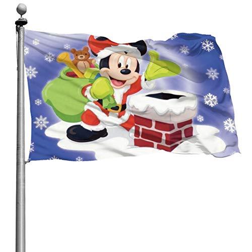 CYNGLL Mickey On The Smoke Cooker Decoración para el hogar al aire libre Porche Jardín Banner – Colores brillantes y antidecoloración 4 x 6 pies