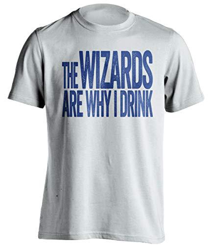 The Wizards are Why I Drink – Divertida camiseta de autoservicio – Versión azul y oro antiguo – Impresión de la muerte
