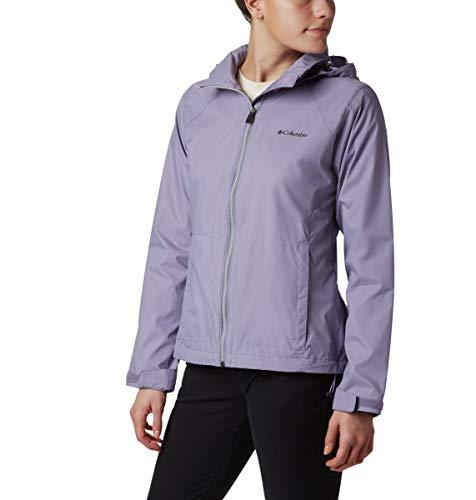 Columbia Women's Switchback III Adjustable Waterproof Rain Jacket, Dusty iris, Small