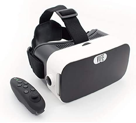 VIFE Virtual Reality Headset 3D VR Glasses for Mobile Games and Video Movies with Bluetooth product image