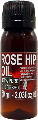 Aceite Rosa Mosqueta 100% Puro 60ml Origen Patagonia Chile -