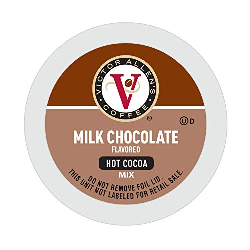 Victor Allen's Coffee Milk Chocolate Flavored Hot Cocoa Mix, 42 Count Single Serve Cups for Keurig K-Cup Brewers