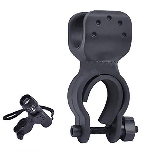 Deanyi Soporte Universal para Faro Delantero de Bicicleta, rotación de 360 Grados, Buena flexibilidad, Soporte para Linterna de Bicicleta, Color Negro