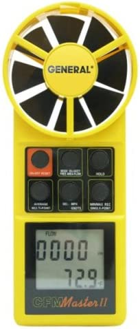General unisex Tools DCFM8906 Digital Air Meter Max 69% OFF CFM with Flow Display