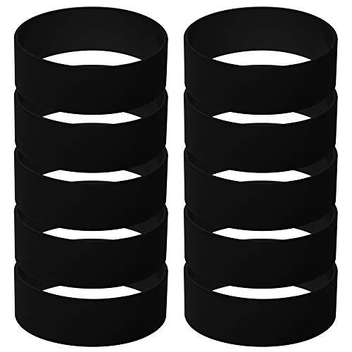 GOGO 10 Stück Breite Silikon Jelly Armbänder für Jugendliche, Gummi Armreifen, Partyzubehör