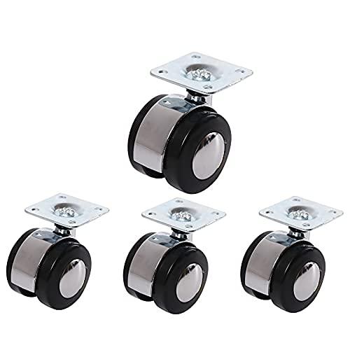 Ruedas de ruedas en movimiento ruedas de trolley ruedas de ruedas de ruedas de 40 mm, ruedas de ruedas en movimiento, ruedas de reemplazo de muebles, ruedas industriales para bricolaje, carga de carga