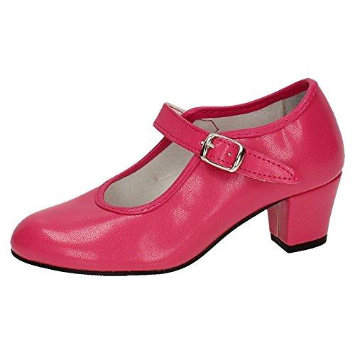 MADE IN SPAIN 15 Zapato DE SEVILLANAS NIÑA Zapatos TACÓN Fuxia 28