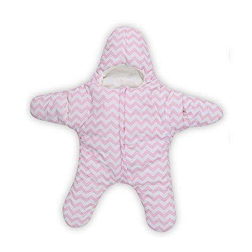 Star Sac pour sac de couchage bébé Nid pour 0-2 ans (0-5M, rose)