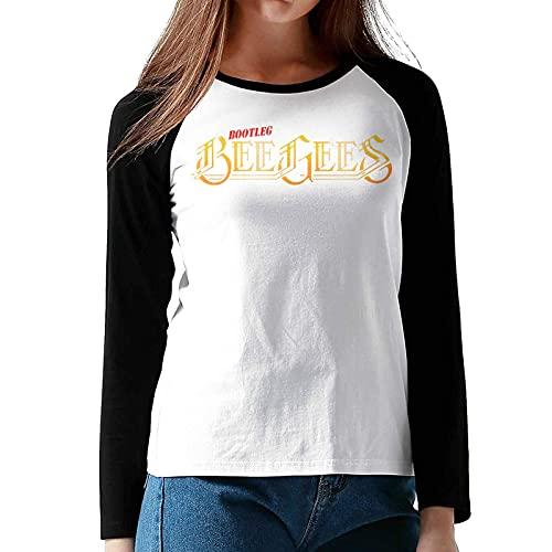 alice hawkins Bee Gees Logo Women's Long Sleeve Raglan T-Shirt Black