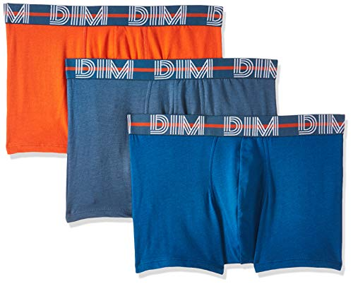 Dim Powerful Boxer Homme,Multicolore (Orange Bronze/Bleu Antique/Gris Bleu 87i) , Medium (Taille fabricant:3) (Lot de 3)