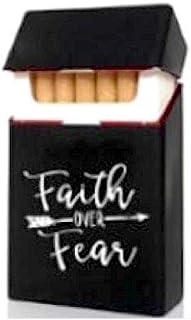 Faith - Custodia per sigarette in silicone, colore: Nero