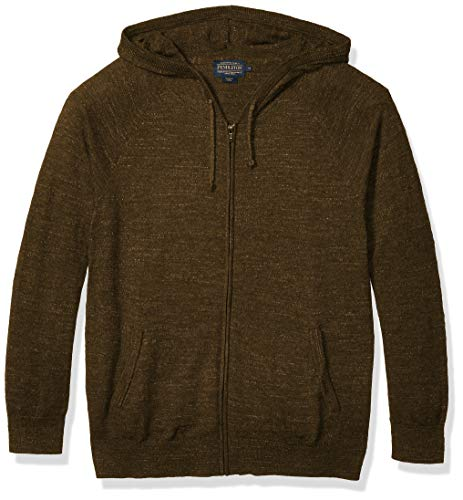 Pendleton Men's Zip Sweater Hoody, Olive Green, MD