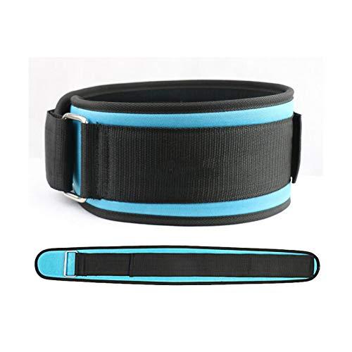 Qilo Peso de Cuero cinturón de Levantamiento - Hombres y Mujeres de 5 Pulgadas Firme y cómodo Soporte Lumbar (Size : Large)