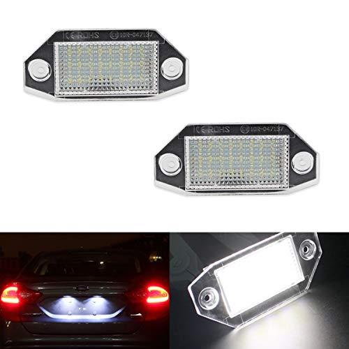 GOFORJUMP 2pcs 18pcs SMD LED 12V Blanc Lumière Lampe de Plaque d'immatriculation pour F/ord M/ondeo M / K3 2000-2007