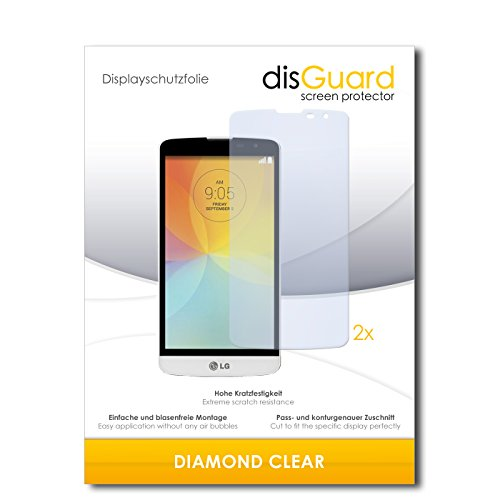 disGuard 2 x Bildschirmschutzfolie LG L Bello Schutzfolie Folie DiamondClear unsichtbar