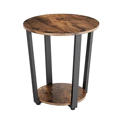 ZXNRTU Diseño Simple Café Tabla 2 Nivel Final Industrial Tabla Mesilla de Noche de la Vendimia con el Almacenamiento en Rack rústica Junto a la Mesa (Color : Black, Size : 13.8x19.7x22.4inch)