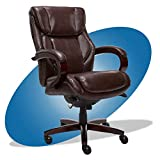 La-Z-Boy Bellamy Bonded Leather Executive Office Chair with Memory Foam Cushions, Brown