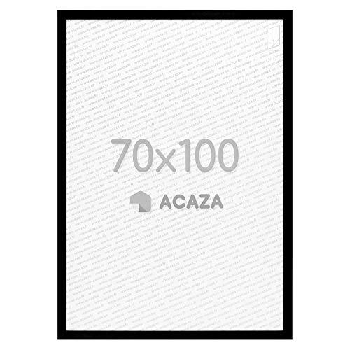 Acaza Cadre Photo 70x100 cm, Grand Format pour Decoration Murale: Affiches, Photos et Posters, Bois MDF, Noir