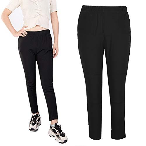 Pantalones térmicos, pantalones térmicos inteligentes USB para mujeres, viajes al aire libre, deportes de motor, ciclismo, esquí, hombres y mujeres(L)