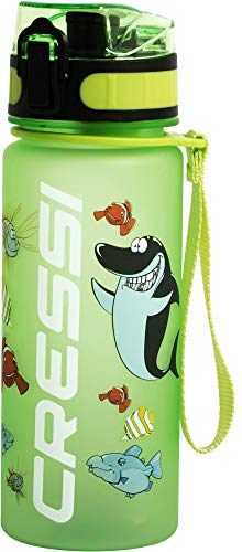 Cressi Water Bottle H20 Frosted, Borraccia Sportiva Unisex, Verde, 400 ml