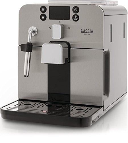 Gaggia RI9305/11 Brera Bean to Cup Coffee Machine, 1400 W, 15 Bar, Black/Silver