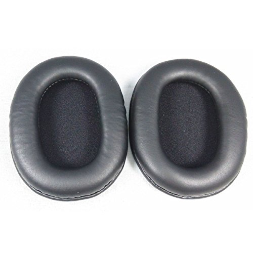 Lurrose Um par de almofadas de ouvido para fones de ouvido de espuma de poliuretano de reposição para SONY MDR-7506 MDR-V6 MDR-CD900ST (preto)