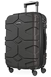 HAUPTSTADTKOFFER - X-Kölln - Handgepäck Trolley, Bordgepäck, Koffer, Volumenerweiterung, TSA, 4 gummierte Doppelrollen, 55 cm, 50 L, Graphite matt